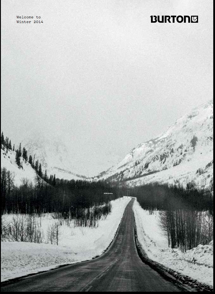 adammoranphotography :     My Cover of the new Burton Catalog. Shot on the road to Alaska in Northern BC.