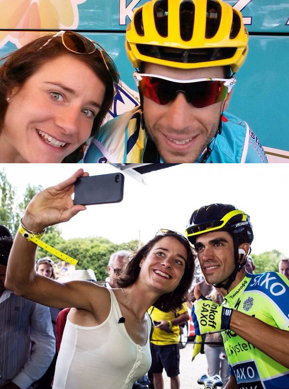 cyclocosm :     Oh hey, just some Marianne Vos selfies.   (via  @astanateam ,  KaffeineKeiser )