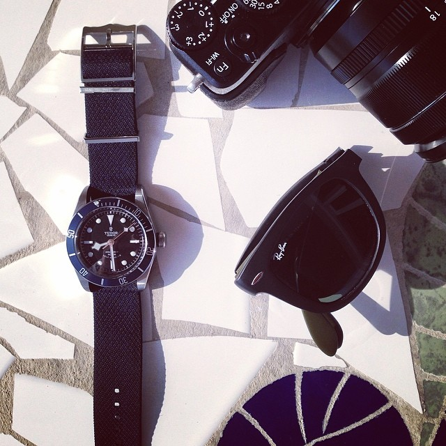 Seaside long-weekend vibes. Check that new navy #blackbay #tudorwatch. by acontinuouslean  http://ift.tt/1jMSZyz