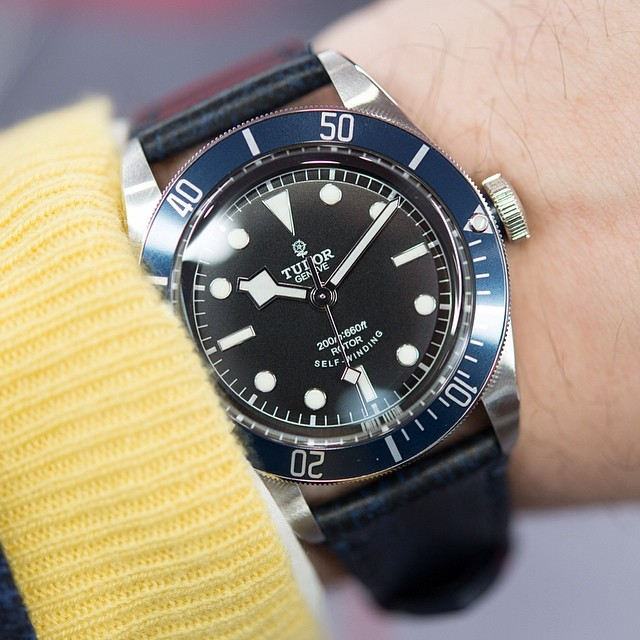 hodinkee :     Today we go hands-on with the new #tudorwatch Heritage Black Bay Blue and tell you how you can be the first to get one in the USA. All the details at  www.HODINKEE.com       This might be my next watch.