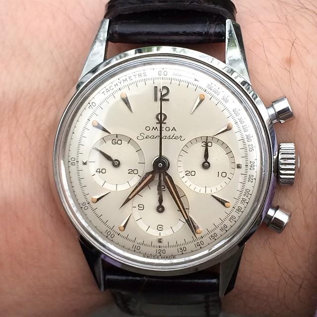 No editing, no filter, no nothing.  Just perfection in the form of a 1960 Omega Seamaster Chronograph with the legendary Calibre .321, sword hands, and a perfect patination.  Coming very soon to www.analogshift.com! by analogshift  http://ift.tt/Sn101M  www.analogshift.com ! by analogshift http://ift.tt/Sn101M