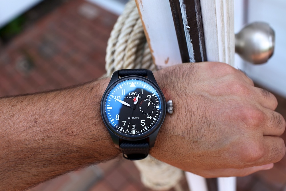 thematerialreview :     IWC Big Pilot Top Gun     maybe not this model but one day.