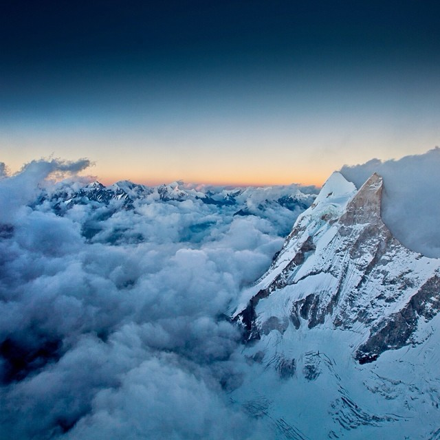 Mt. Shivling, the symbol of Shiva, from our 19k ft high portaledge camp on MERU after 11 days of climbing with @conradclimber @jimmy_chin. [#merufilm @thenorthface collection] by renan_ozturk  http://ift.tt/1idCN5m