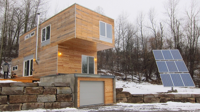 craigtommola :      treehugger :     Shipping containers are all the rage among designers and architects who have been converting them into housing, but these designs by MEKA take that concept to a whole new level. Read More.      That's quality.