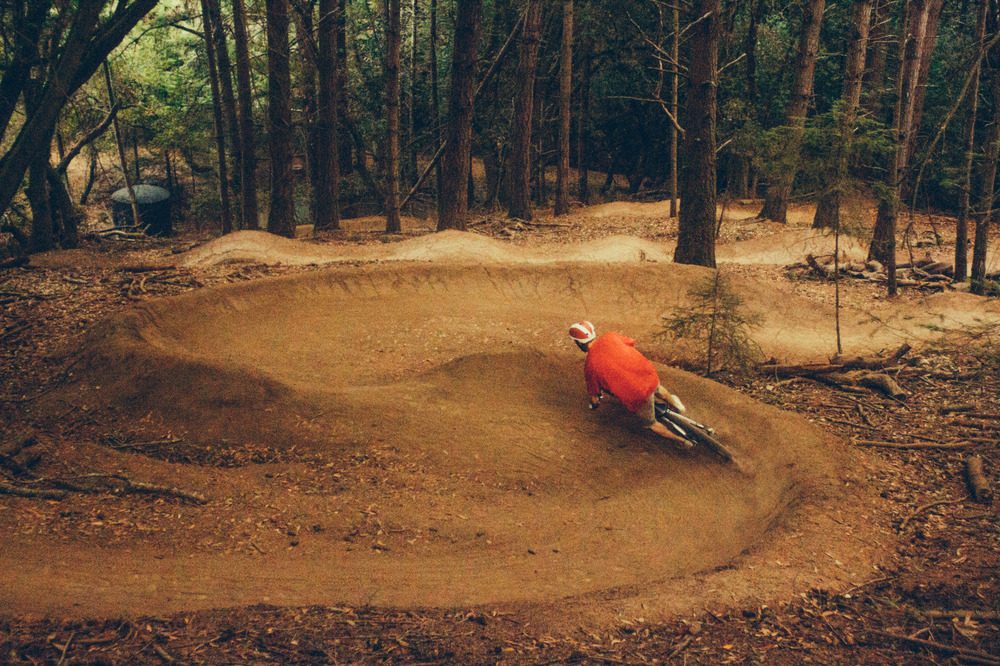 malonebryson :     Tearin' up berms on the Endor Flow Trail. Marin County, Ca.