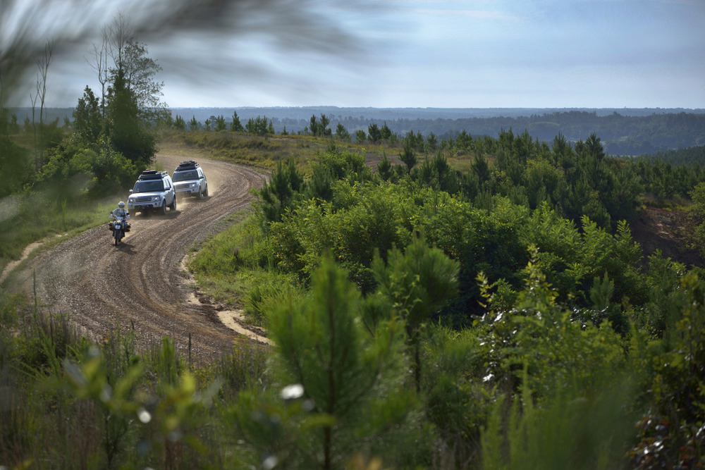 landroverusa :      Coming Around    A winding off-road landscape.