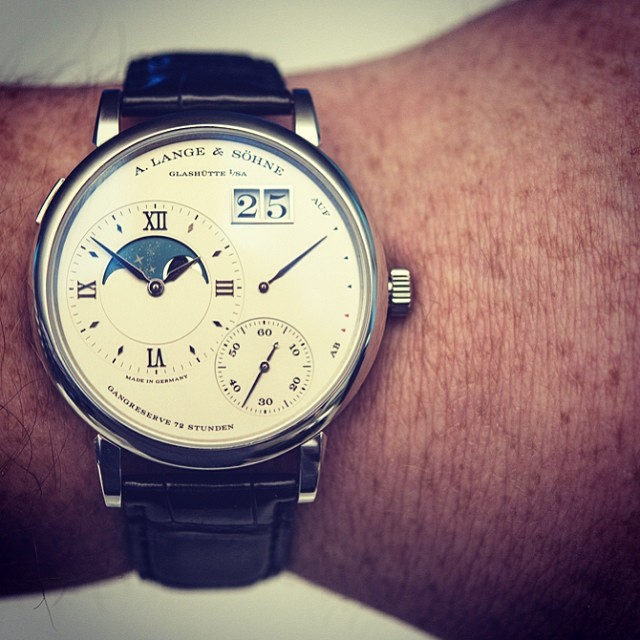 hodinkee :     Gorgeous high-res photos of the new #alangesohne Lange 1 Moon Phase for #sihh2014 now on the site along with official pricing from our man in Glashütte @ctzn.  (at  www.hodinkee.com )