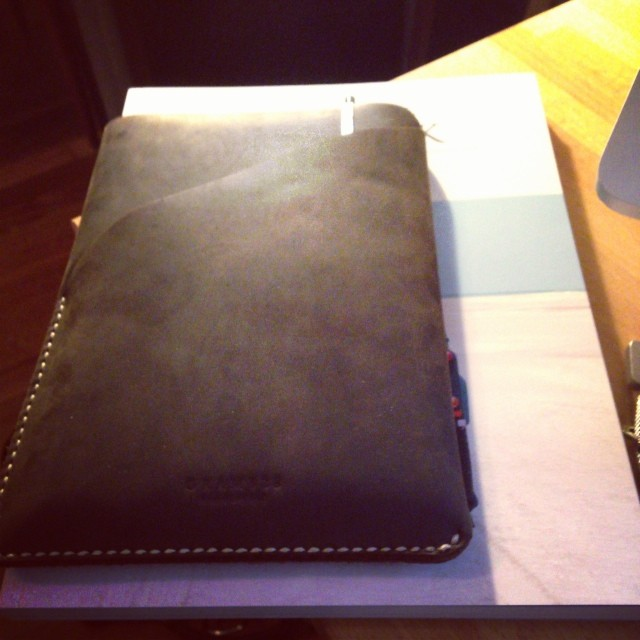 Screw carry on bags. I'm checking a bag only carrying this for my flight tomorrow. iPad & Kinfolk mag.