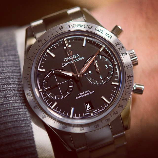hodinkee :     In preparation for tomorrow's @omega Speedmaster event in the Netherlands, we present you the Speedmaster '57 coaxial. One of the absolute hits of #baselworld 2013.     So good.