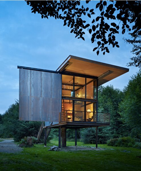 Cool design. Only downside is that when closed there isn't a door out to the deck. That would be perfect.
