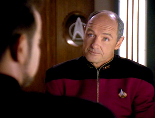 Riker cut his Starfleet teeth under the command of (then) Captain John Locke.