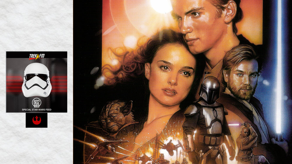Star Wars: Attack of the Clones. We talk Episode II, discussing the wunderkind, Obi-Wan being like Qui-Gon, John outdoing himself, the spiral down, the love story, a vast galaxy, the dark side, plus the Batman V Superman trailer.
