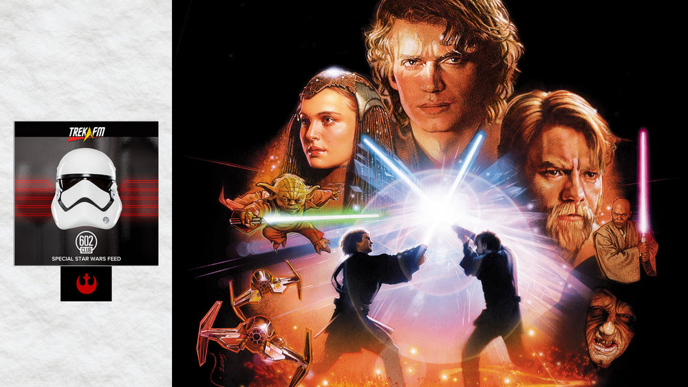 Revenge of the Sith. We discuss our Episode III experiences, the end, personal themes, the fall of Anakin and the Republic, speculation about Episode VII, in light of The Clone Wars, Mustafar scene, missing scenes and our ratings.