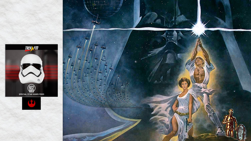 "Star Wars: A New Hope. We discuss our Episode VI experiences, continuing the story, the final death of The Republic, the new ""Chosen One"", the spiritual side, new characters and old friends, wrapping up with ratings and final thoughts."