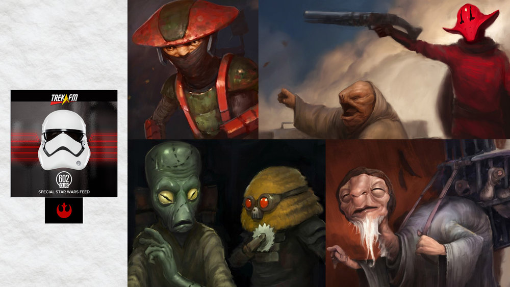 Star Wars Aliens: Tales from a Galaxy Far, Far Away. We discuss the journey to The Force Awakens, The Face of Evil, All Creatures Great and Small, High Noon on Jakku and The Crimson Corsair and the Lost Treasure of Count Dooku.