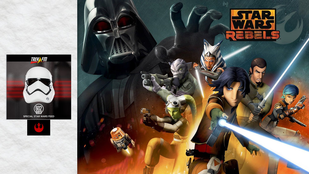Star Wars Rebels Season 2. To start we discuss the Rogue One trailer, then entering season 2, each of the episodes, frustration, helicopter lightsabers, Ahsoka and Vader, Ahsoka's end, having Maul back, hopes for season 3 and our ratings.