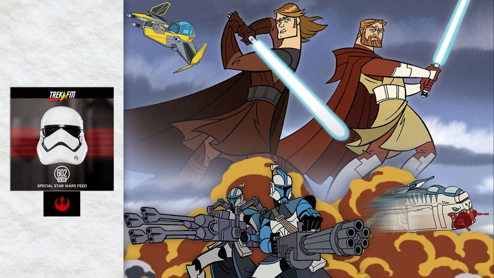 Star Wars: Clone Wars. We discuss our Clone Wars experience, volume one, if it's still fun, volume two, leading up to Episode III, voices, being over-written and doing yourself a favor.