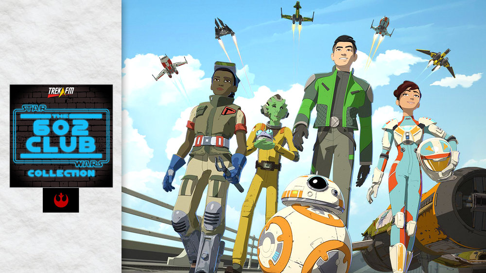 Star Wars Resistance. We discuss the set-up, the length of the show, the characters, the design and animation, the music and our final thoughts as we look forward to the rest of the series.