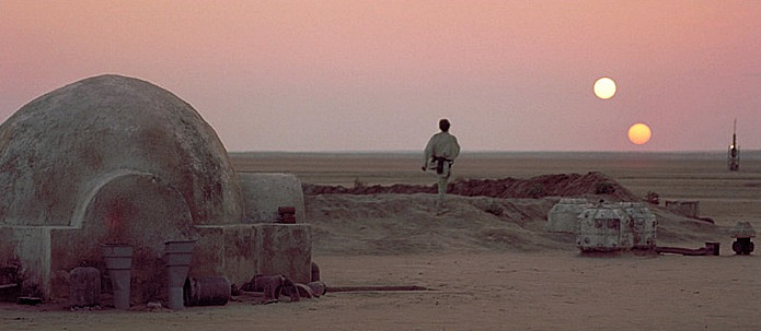 One of the images that has stuck in my mind since childhood. From Star Wars (1977).