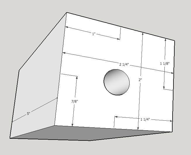 The eccentric hole allows fine tuning of the position of the clamping block and therefor the position of the pedal.