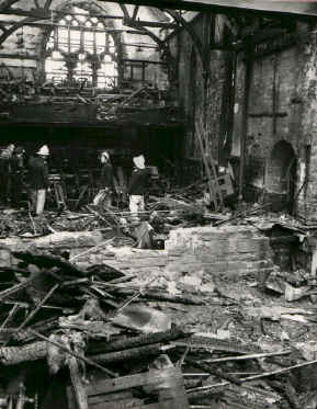 The Theatre after the fire - courtesy of Coventry Evening Telegraph