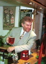Dave Willetts at 1990 Official Opening of the Priory's New Bar and Foyer - image courtesy of Stuart Lawson