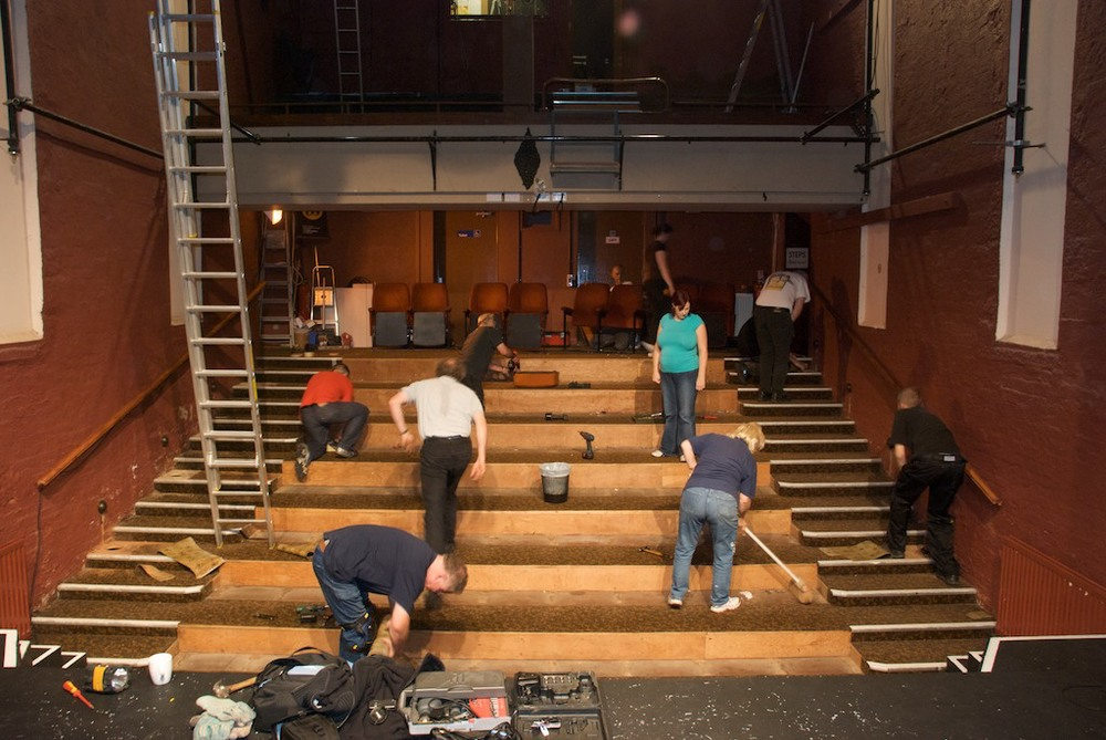 Refurbishment of the auditorium - image courtesy of Chris Parker