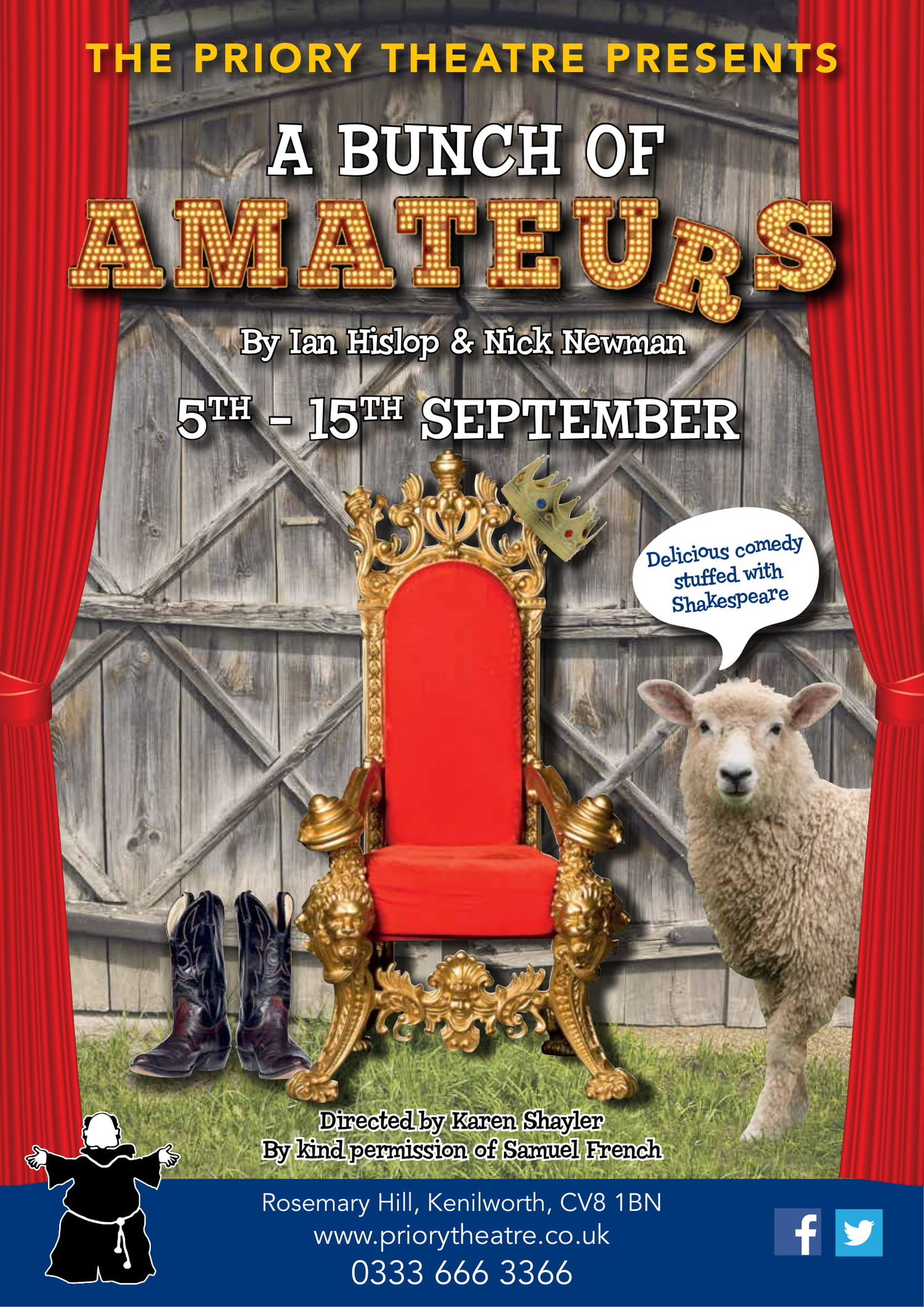A Bunch Of Amateurs The Priory Theatre Kenilworth