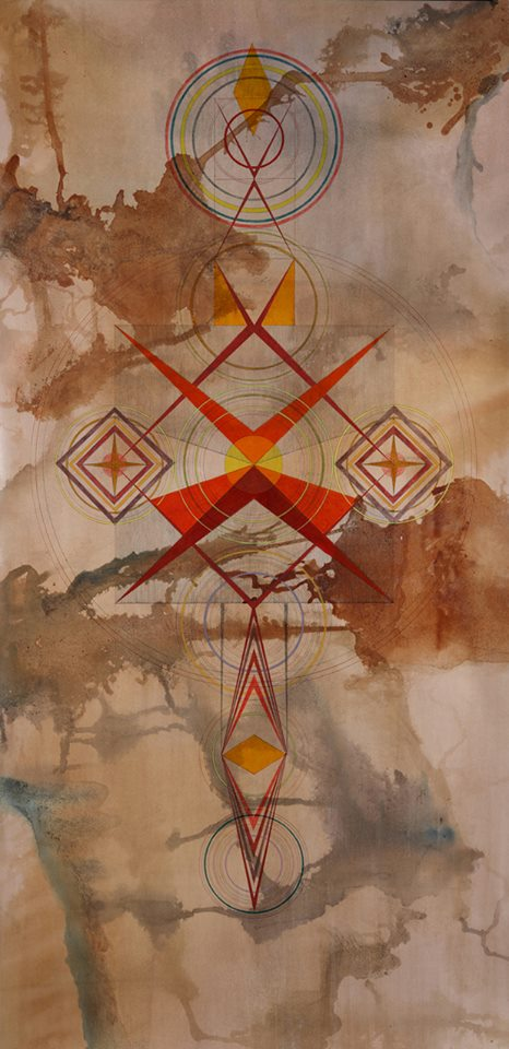 Mintaka - Inks on burnished paper - 80.25 x 43.25  2013