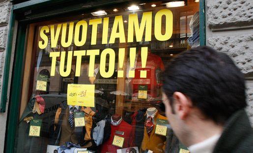 Crisi economica negozi