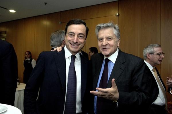 Mario draghi e trichet1