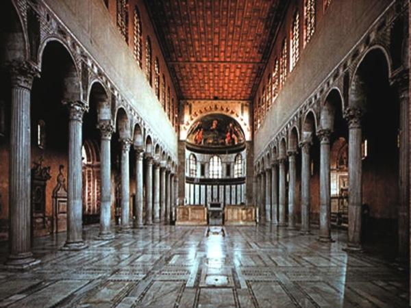 Paleocristiano Basilica Santa Sabina Roma interior jpg