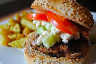 Hummus turkey burger