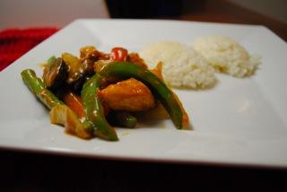 Chicken sriracha stir fry
