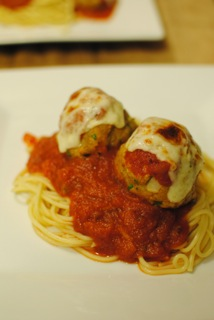 Chicken parm meatball 1