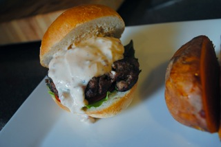 Chipotle cream burger