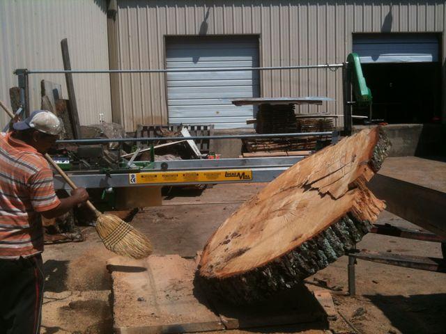 white oak slab