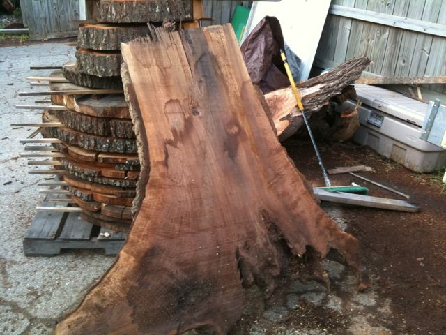 Walnut tree trunk slice robin wade furniture for Tree trunk slice ideas
