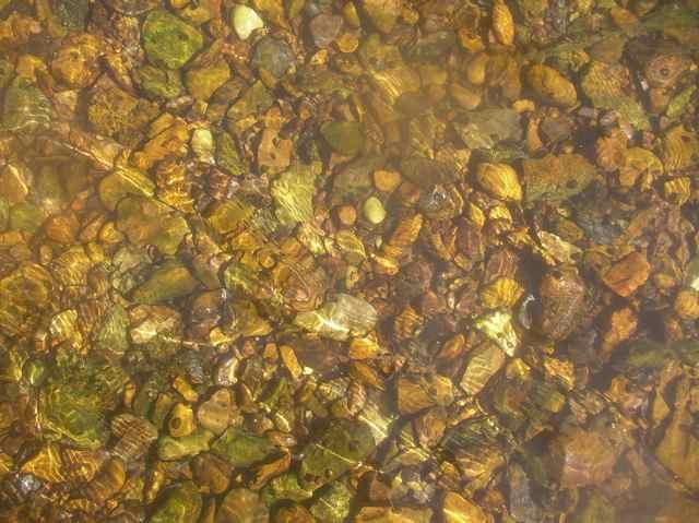 rocky creek bed