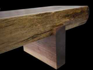 walnut timber bench