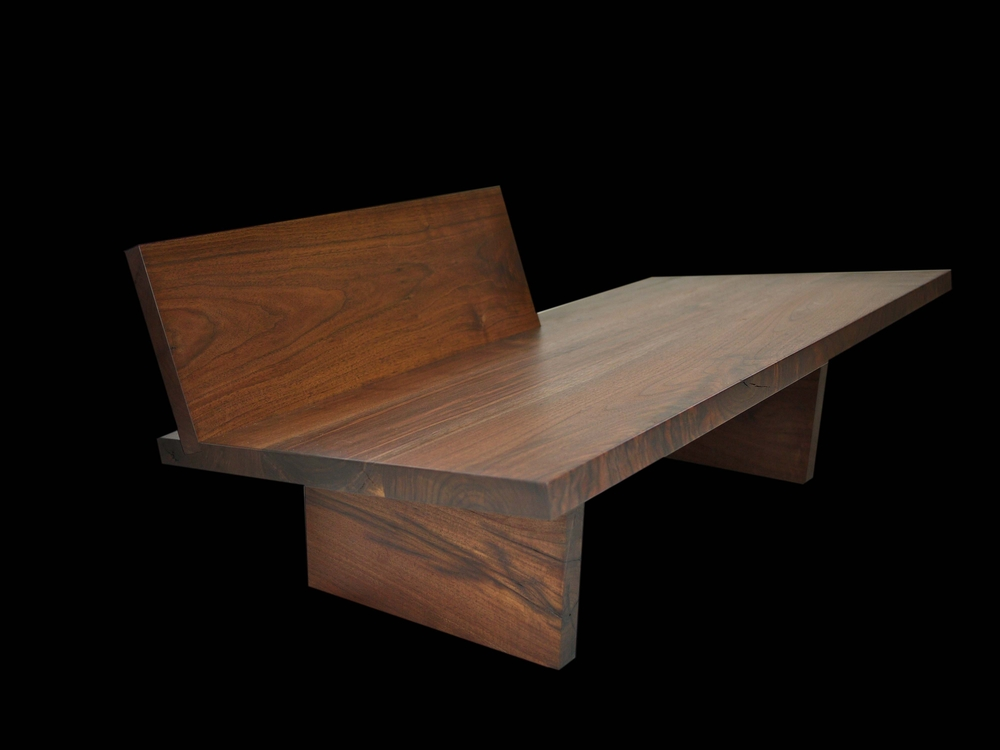 modern walnut chaise chair