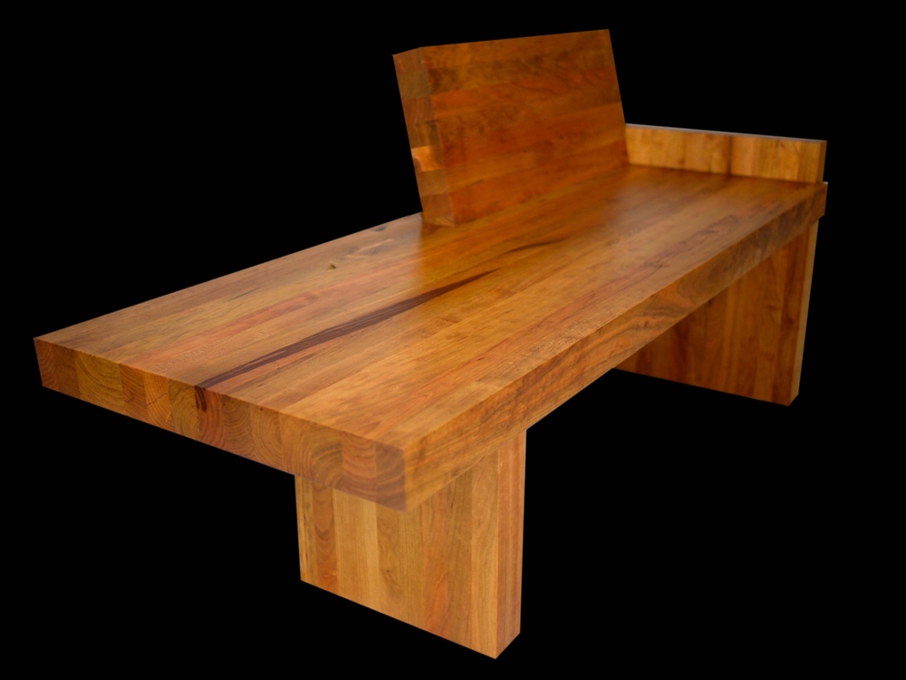 cherry chaise made from scraps