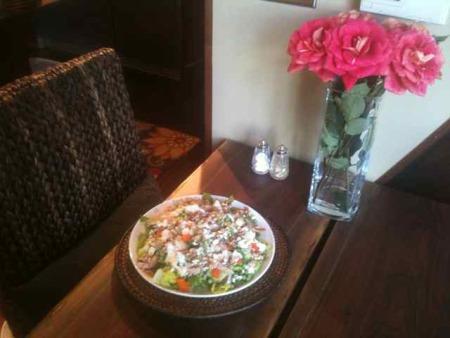 Linda's walnut salad with blue cheese