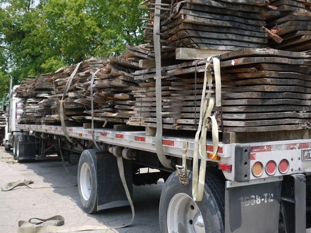 massive oak timber slabs