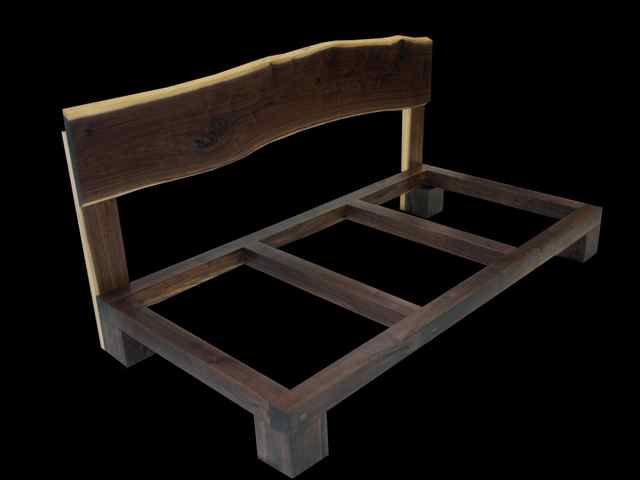 solid walnut day bed