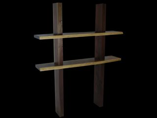custom walnut timber shelves