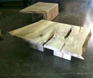 two maple coffee tables in the works
