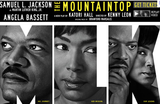 samuel l. jackson as Martin Luther King in The Mountaintop