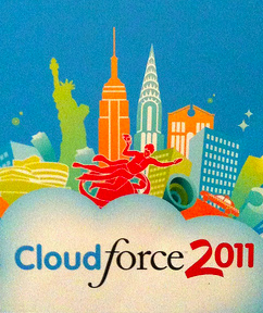 cloudforce 2011 New York began two minutes ago