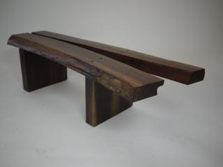 cracked walnut bench
